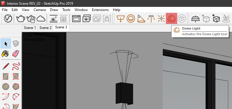 How to insert Dome Lights into your 3D scenes within SketchUp