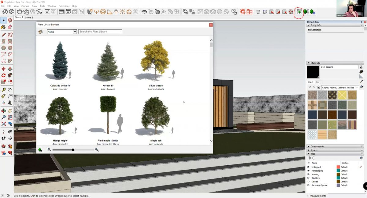 How to create realistic vegetation using SketchUp - Laubwerk Library Browser