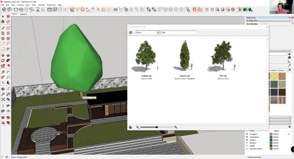 How to create realistic vegetation using SketchUp - Laubwerk vegetation imports as a Proxy