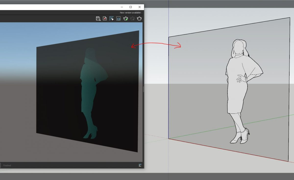 Improve V-Ray textures | Black glass is fixed within V-Ray for SketchUp by ensuring that the faces are facing the front