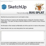 Troubleshoot V-Ray for SketchUp errors | Bug splats indicate a crash has occured and SketchUp needs to reopen the file
